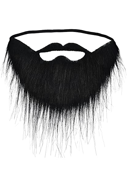 Amazon Com Hestya 6 Pieces Funny Fake Moustache Beard Black Fake