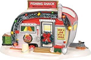 Department 56 Original Snow Village Stumble Inn Fish Shack Lit Building, 3.9 Inch, Multicolor