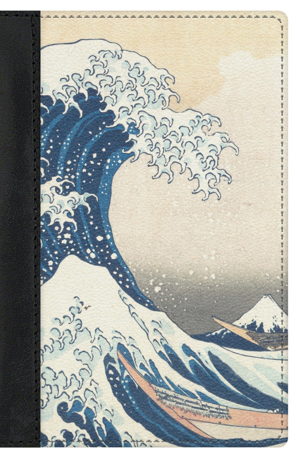 Great Wave of Kanagawa Genuine Leather Passport Cover