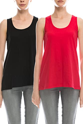 Loose Fit Relaxed Flowy Knit Tank Top: Athletic Workout Jersey Sexy Cheap Pack