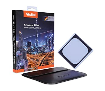 Rollei Astroklar Light Pollution Round Filter I 55mm Night Light Filter I Clear Night Filter for Astrophotography and Night Photography