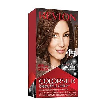 Revlon ColorSilk Tinte de Cabello Permanente Tono #37 Castaño ...