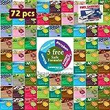 {Entel} 72 Pcs Combo-Pack, Premium Korean Essence Facial Mask Sheet (12 Types x 6 pcs), Five Chemical Free : No Paraben, No Silicon, No Mineral Oil, No Artificial Colors,No Ethanol …