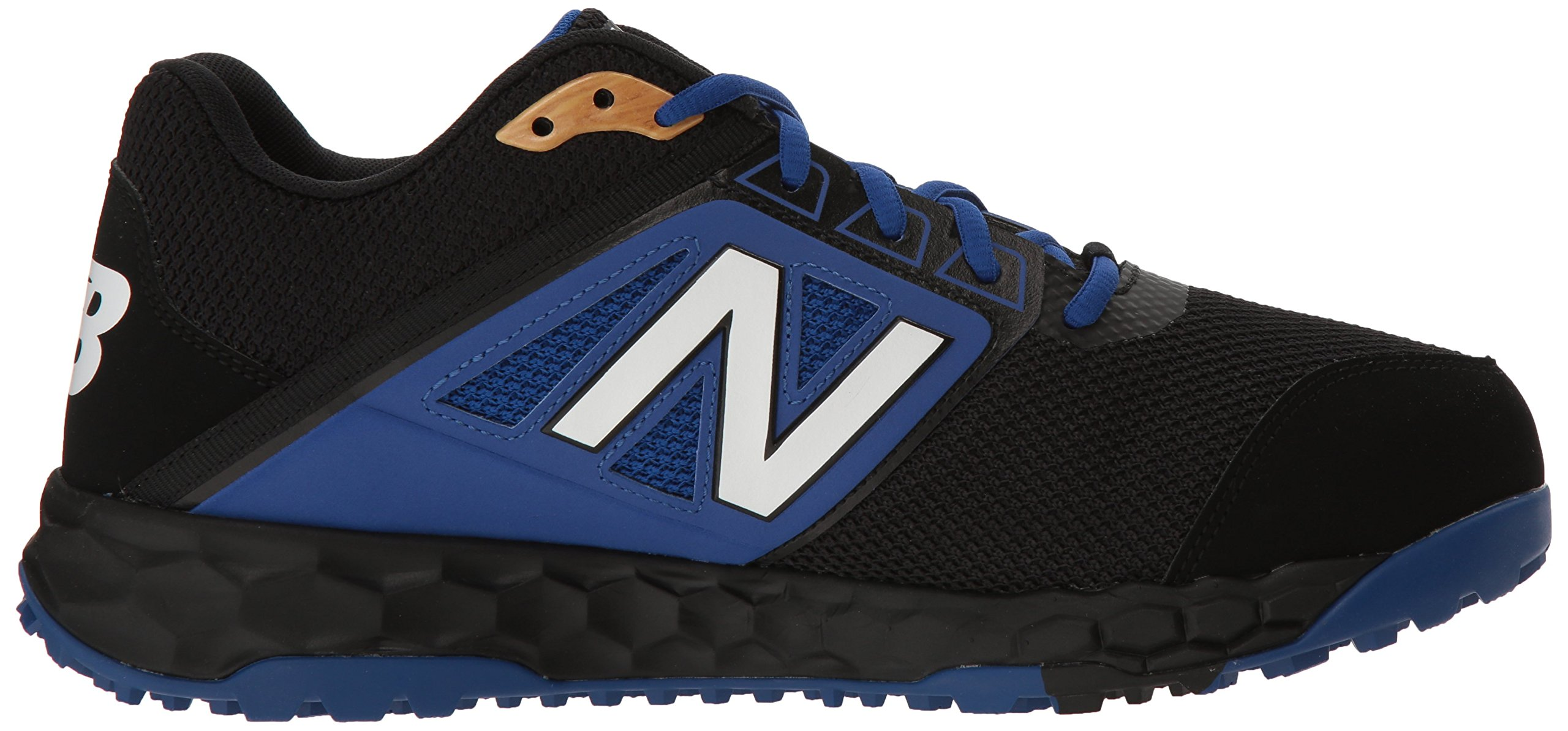 New Balance Men's 3000v4 Turf Baseball Shoe, Black/Blue, 5 D US by New Balance (Image #6)