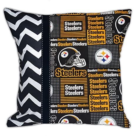 NEW Pittsburgh Steelers Decorative Football Throw Pillow
