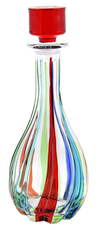 BOTTIGLIA ROTONDA TRIX Botella Cristal Mano Colores Pintadas Tradición Venecia: Amazon.es: Hogar