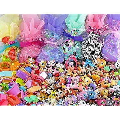 Littlest Pet Shop Huge 70 PC Surprise Grab Bag Blind Bag Random Gift Lot - 30 LPS Loose Figures + 40 Small Accessories + Bonus Gift Blind Bag: Toys & Games [5Bkhe1401037]