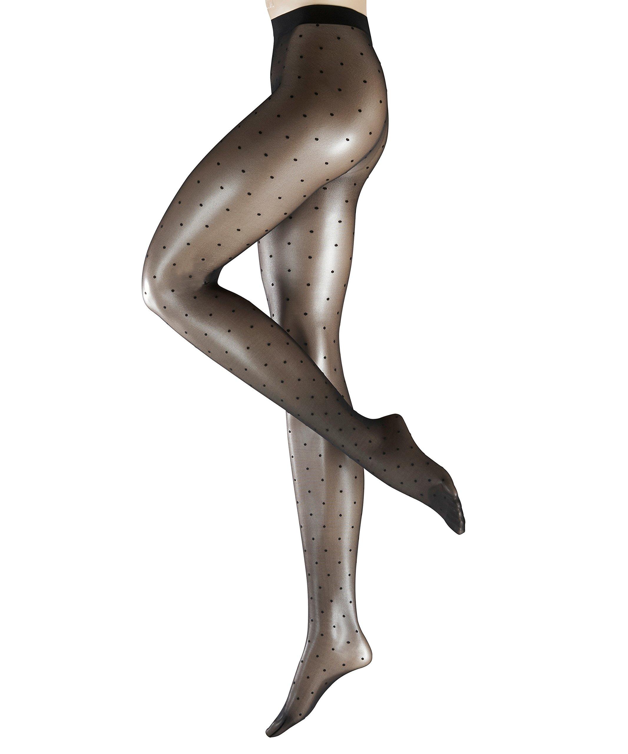 Falke Women's Dot Pantyhose, Black, L