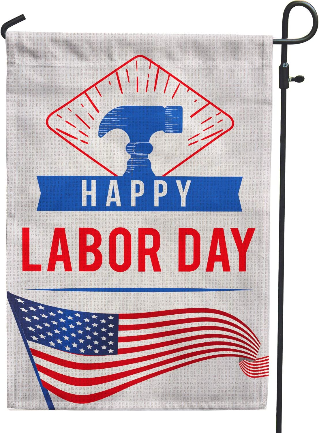 Hollyhorse Happy Labor Day Garden Flag - 12.5 x18 Inch Double Sided Vertical Outdoor & Yard Flag | USA Labor Day Decoration