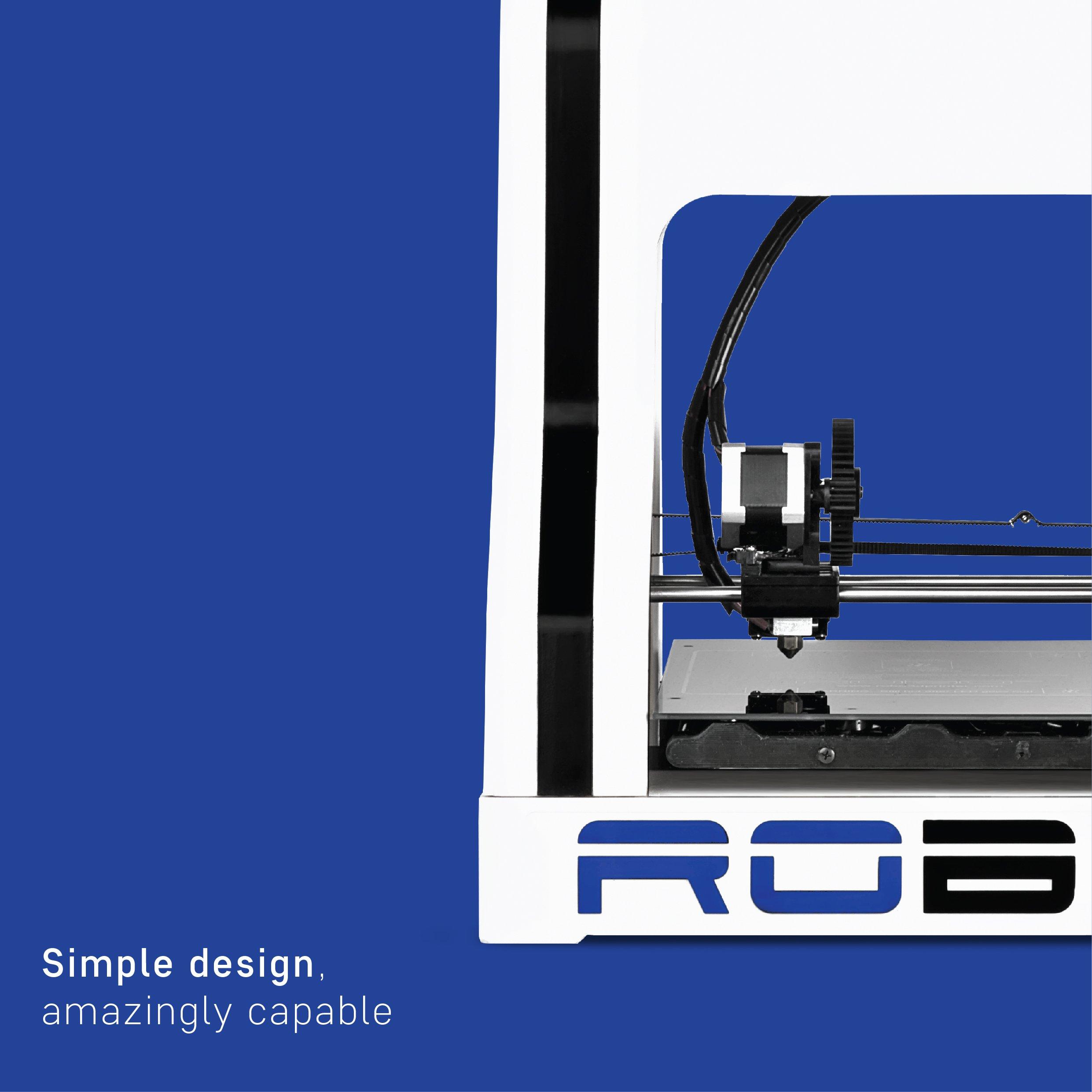 "Robo R1+ ABS/PLA Assembled 3D Printer, Big Build Volume 8""x9""x10"