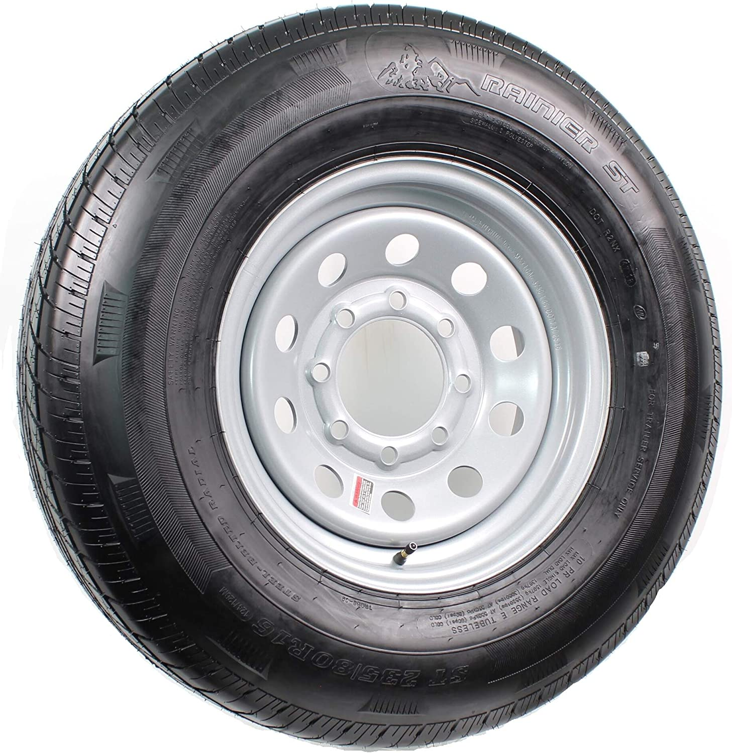 TW Goodride ST235//80R16 10 Ply Radial Wheel//Tire Assembly Silver MOD 8-6.5 Bolt Pattern
