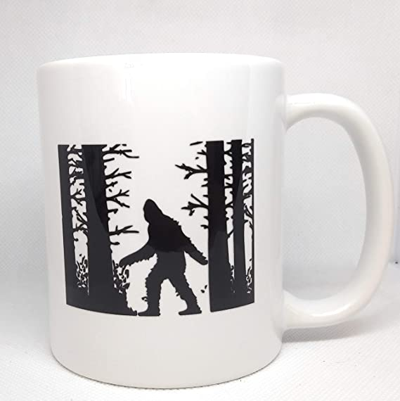 Bigfoot Sasquatch Natural Habitat Taza de café de cerámica | Bigfoot Taza de café | 11oz taza | N009
