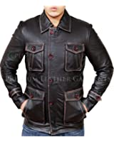 Supernatural Season 7 Brown Distressed Leather Jacket - Dean Winchester Coat