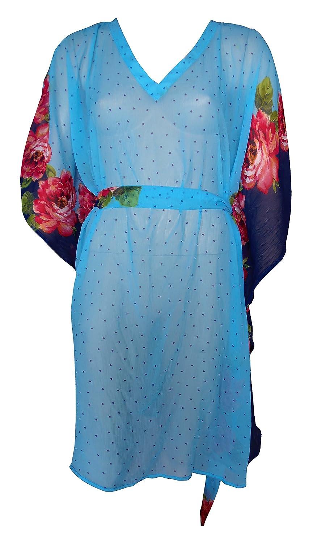 4f306d539a SUNROSE Sheer Chiffon Light Blue Beach Cover up Swim Kaftan Caftan:  Amazon.co.uk: Clothing