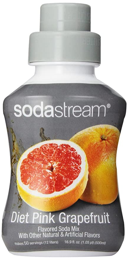 SodaStream Diet Pink Grapefruit Syrup, 16 9 Ounce