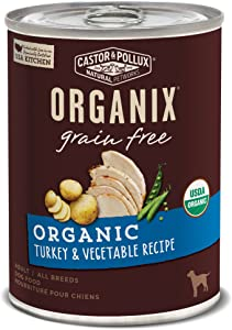 Castor & Pollux Organix Grain Free Organic Turkey & Vegetable Recipe Adult Canned Dog Food, (12) 12..7oz cans