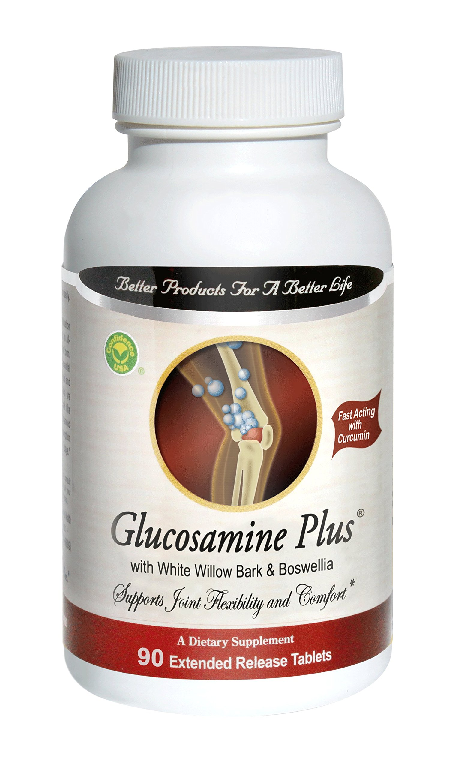 Glucosamine Plus 90 Tablets By Confidence Inc