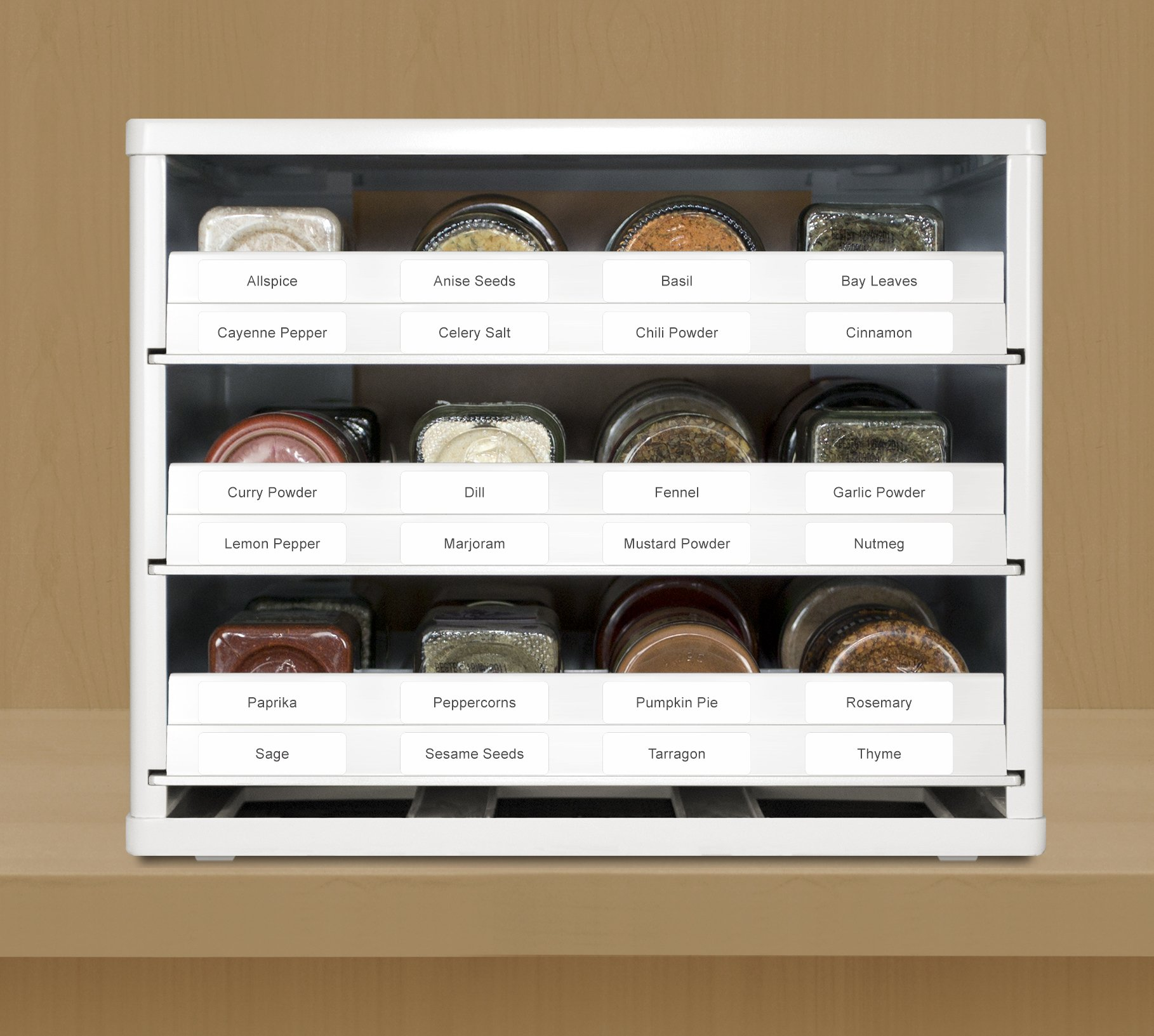 YouCopia Classic SpiceStack 24-Bottle Spice Organizer with Universal Drawers, White by YouCopia (Image #6)