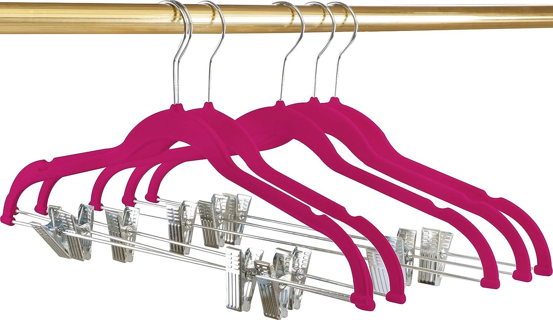 Utopia Home Premium Velvet Hangers - Pack of 12 - Heavy Duty - Non Slip - Velvet Suit Hangers with Clips for Pants or Skirt Hanger - Grey UH0141