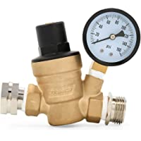 Camco 40058 Adjustable Brass Water Pressure Regulator - Helps Prevent Damage to Appliances and Plumbing Fixtures from…