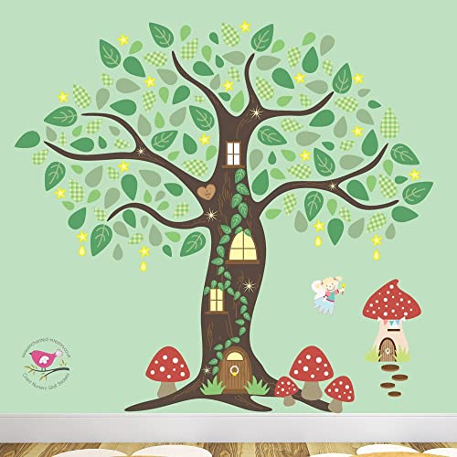 815ca2d9d2 Image Unavailable. Image not available for. Colour: Enchanted Tree Fairy  Nursery Wall Stickers ...