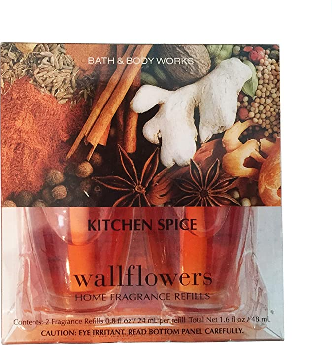 Bath & Body Works Kitchen Spice Wallflowers Home Fragrance Refills, 2-Pack (1.6 fl oz total)