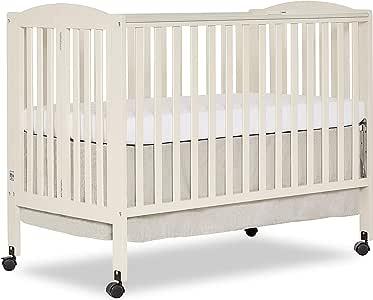 Dream On Me, Folding Full Size Crib, French White: Amazon ...