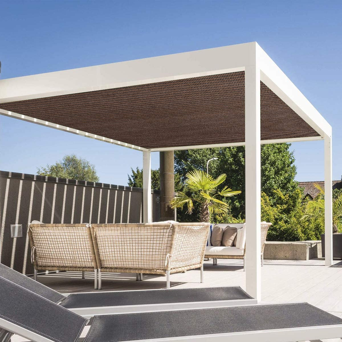 Edens Decor - Toldo Rectangular con Bordes Planos, Bloqueo UV ...