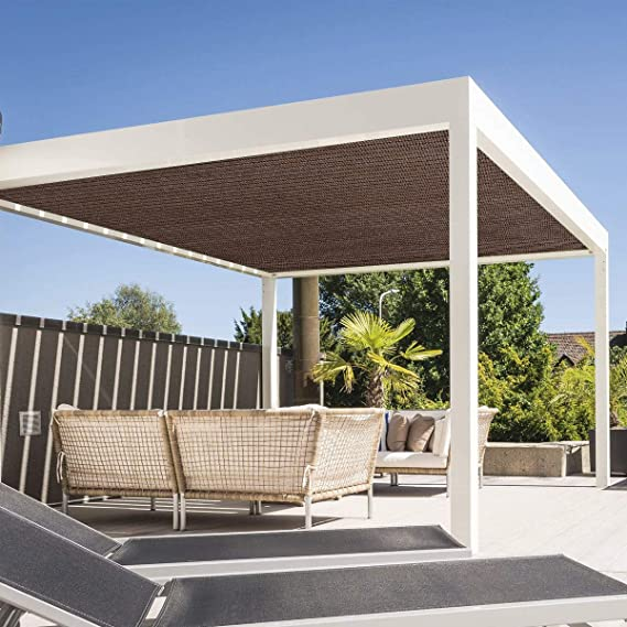 Edens Decor - Toldo Rectangular con Bordes Planos, Bloqueo UV, para Patio, Piscina y pérgola al Aire Libre: Amazon.es: Jardín