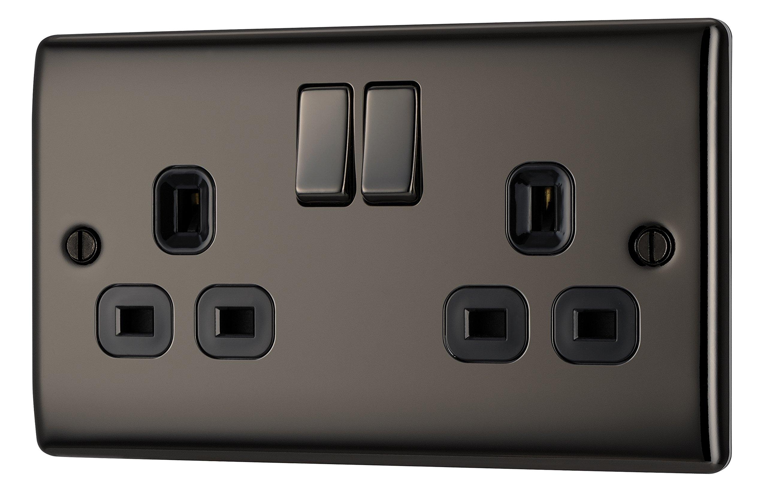Black Electrical Sockets Uk Worksheet And Wiring Diagram An Socket Plug Amazon Co Rh Elecrical Round Pins