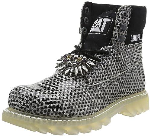 CAT-Footwear Botas Track Colorado Chic Plateado/Negro EU 40: Amazon.es: Zapatos y complementos