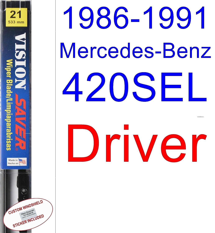 Amazon.com: 1986-1991 Mercedes-Benz 420SEL Wiper Blade (Driver) (Saver Automotive Products-Vision Saver) (1987,1988,1989,1990): Automotive