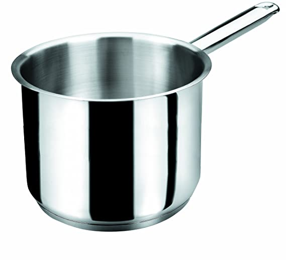 Lacor - 32716 - Pote Cilindrico Basic 16 cm Inox: Amazon.es: Hogar