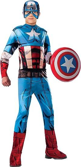 Rubies 620019-L Avengers - Disfraz Capitán América para Niño ...