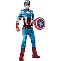 Rubies 620019-M Avengers - Disfraz Capitán América para niño, Talla M (5-7 años)