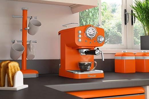 Swan cafetera Espresso SK22110ON, retro, color naranja.: Amazon ...
