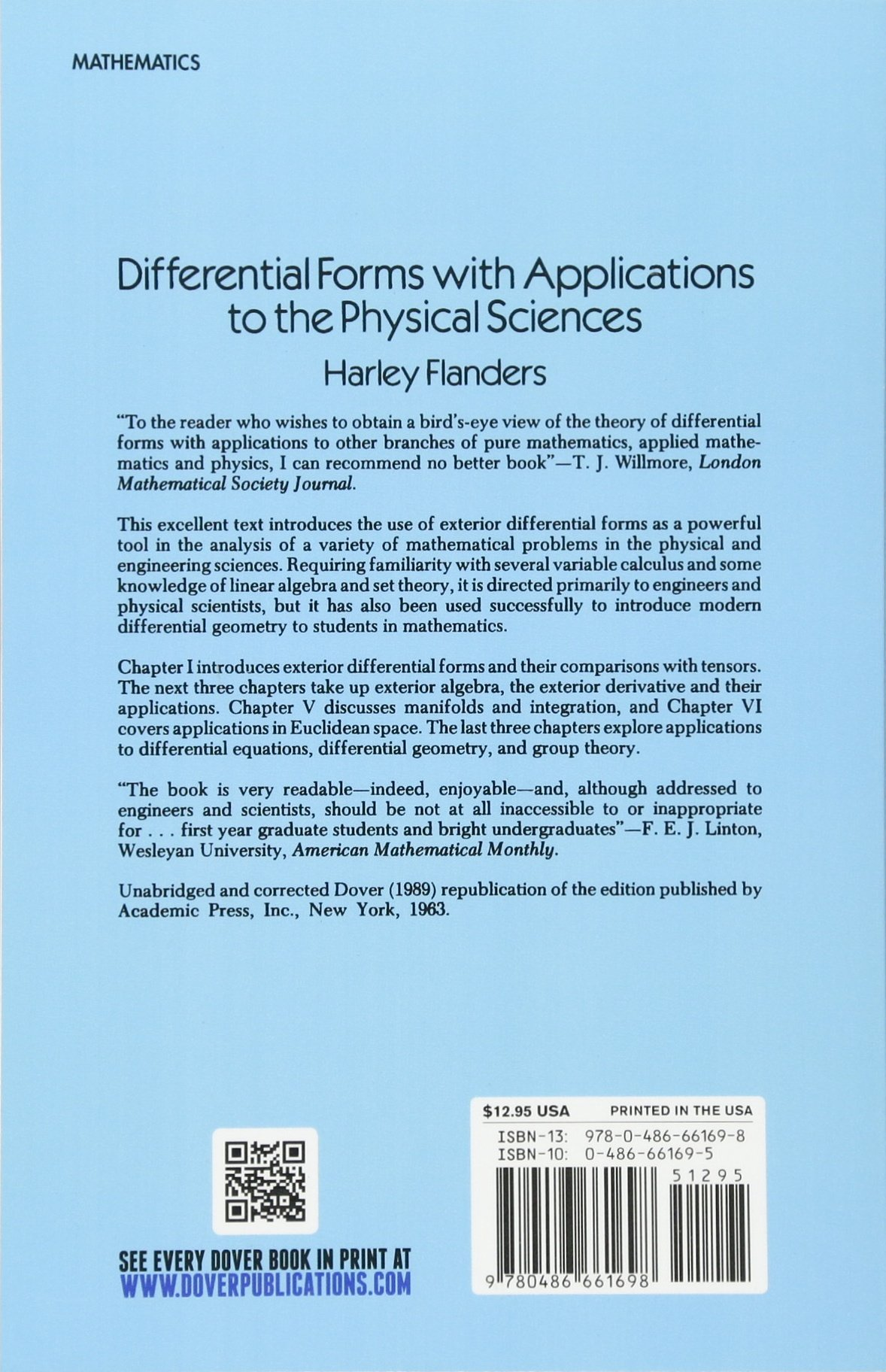 amazon differential forms with applications to the physical