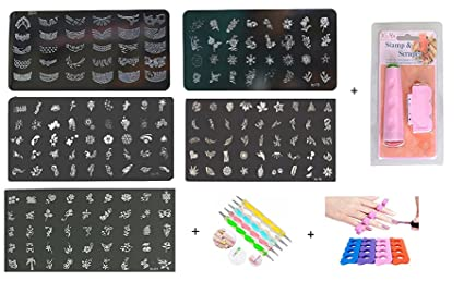 Buy Royalkart Master Nail Art Kit With 5 Image Plates With Double