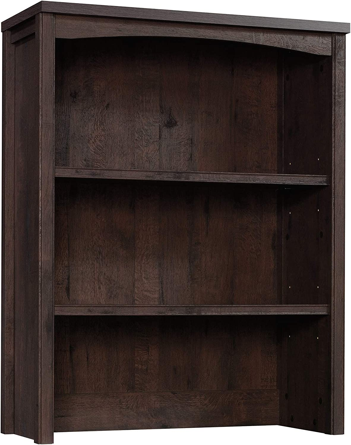 Sauder Costa Library Hutch, L 31.30 x W 13.19 x H 40.09 , Coffee Oak finish