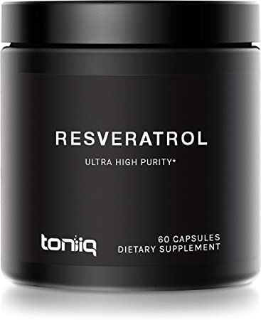 Ultra High Purity Resveratrol Capsules - 98% Trans-Resveratrol - Highly Purified and Highly Bioavailable - 60 Caps Reservatrol Supplement
