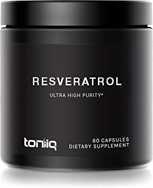 Ultra High Purity Resveratrol Capsules - 98% Trans-Resveratrol - 60 Caps Reservatrol Supplement
