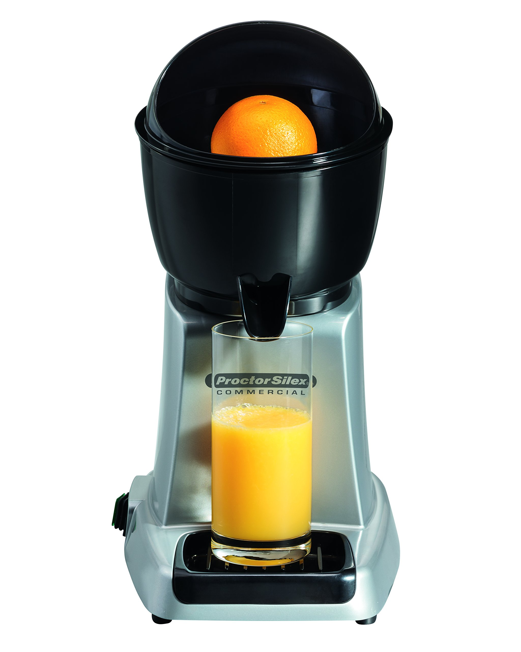 Proctor Silex Commercial 66900 Electric Citrus Juicer, 3 Reamer Sizes for Oranges, Lemons, Limes and Grapefruits, Removable Bowl, Strainer, Splashguard, Drip Tray, Black/Grey by Hamilton Beach (Image #3)