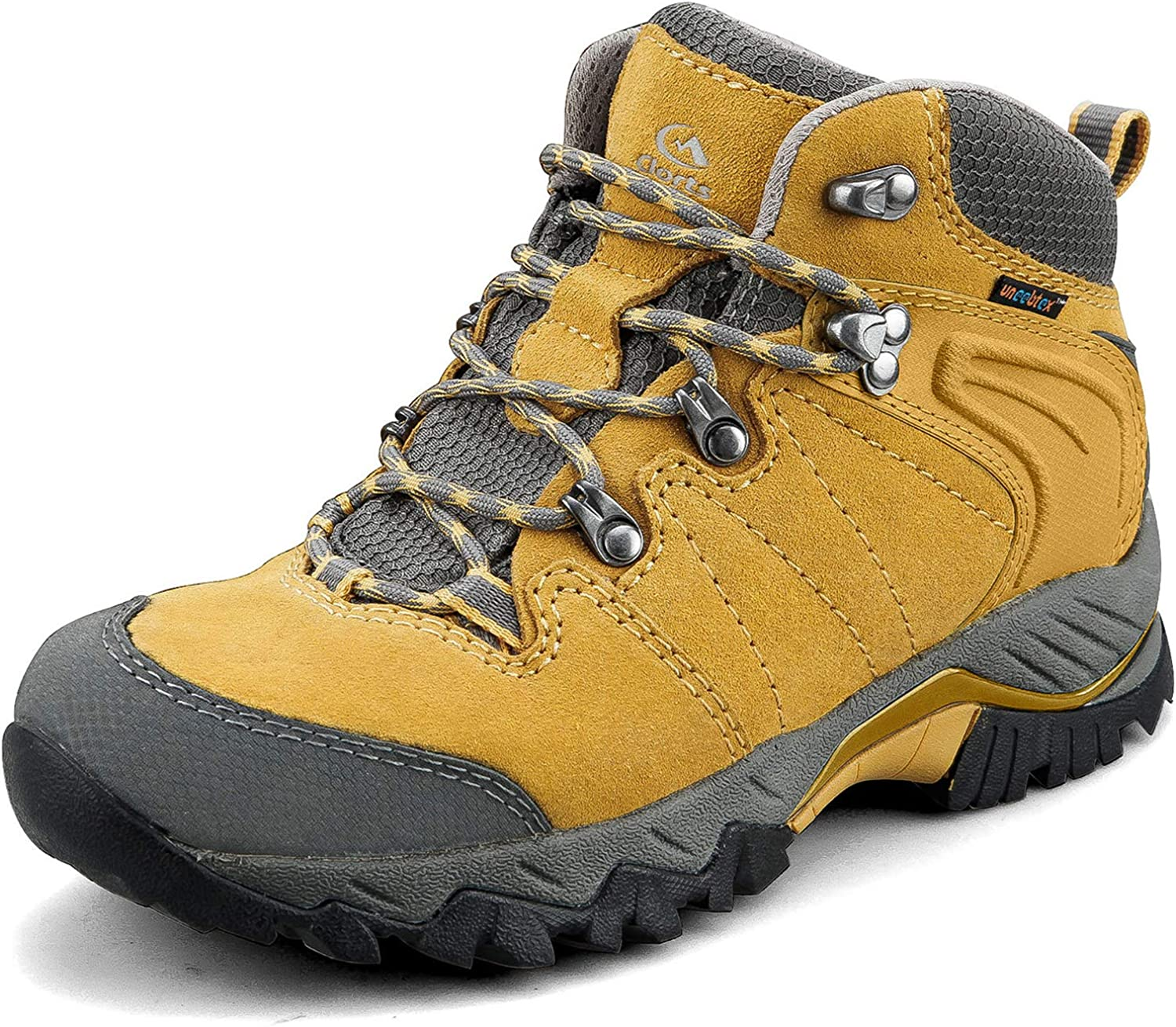 Clorts Women's Pioneer Hiking Boots Waterproof Suede Leather Lightweight Hiking Shoes