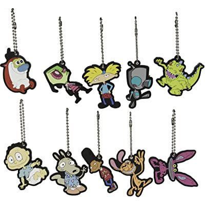 Store On Wheels Party Favors - Nickelodeon Nick 90s Key Chains/Charms Set of 10 Pieces: Home & Kitchen
