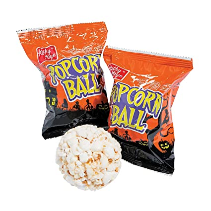 Bolas De Palomitas De Maíz Para Halloween 24 Envueltas Individualmente Grocery Gourmet Food