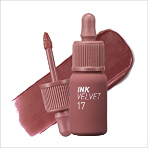 Peripera Ink the Velvet Lip Tint   High Pigment Color, Longwear, Weightless, Not Animal Tested, Gluten-Free, Paraben-Free   Rosy Nude (#17), 0.14 fl oz