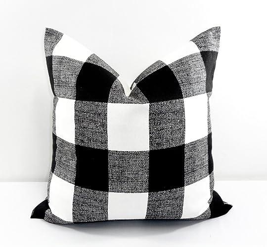 Amazoncom Black White Buffalo Check Pillow Cover Sham Cover