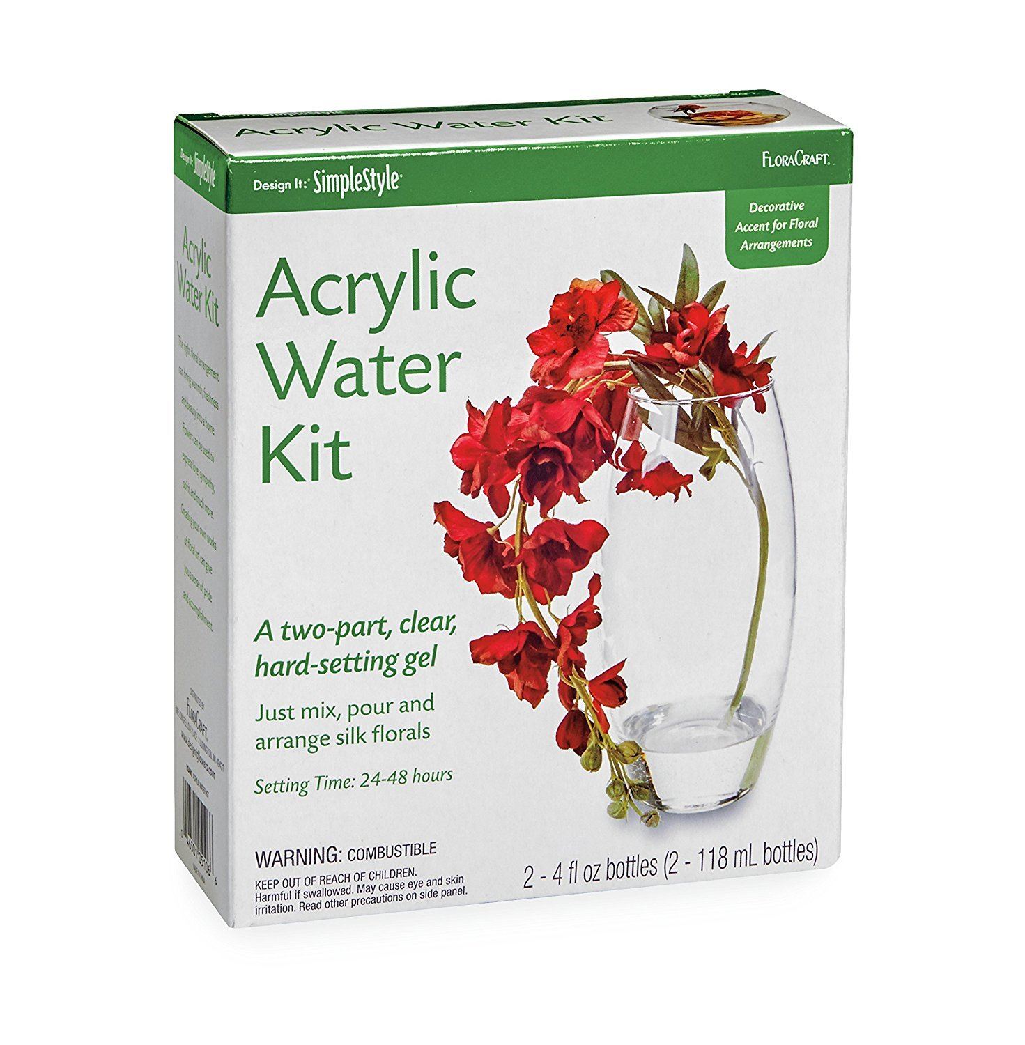 Amazon.com: FloraCraft Floral Accessories Acrylic Water Kit: Arts ...