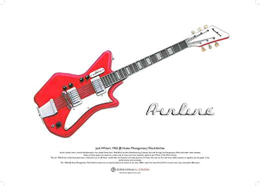 Amazon.com: Airline JB Hutto guitarra de Jack White Arte ...