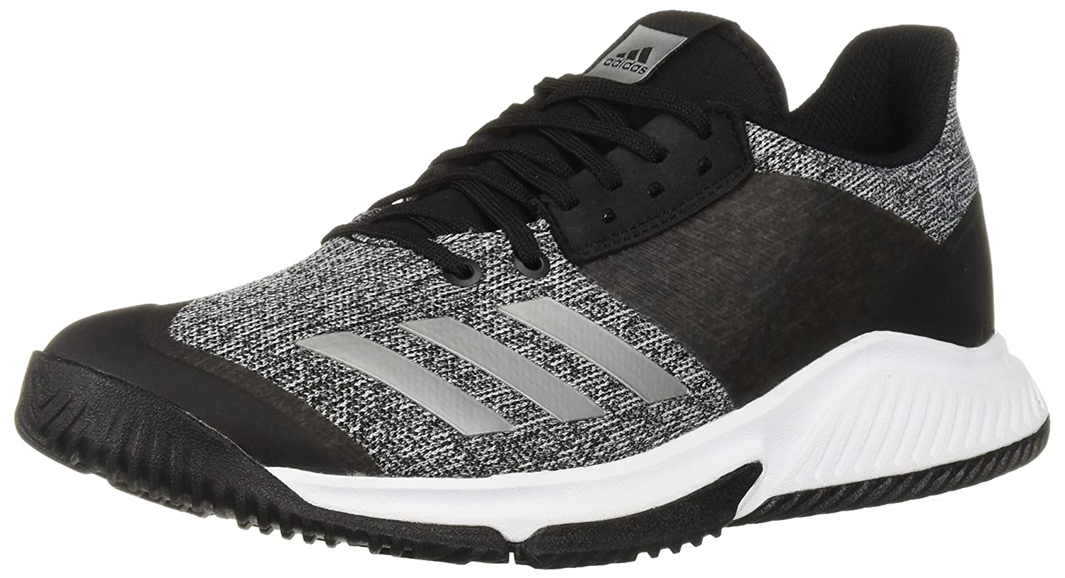 adidas Women's Crazyflight Team Volleyball Shoe B077X4JPMM 9.5 B(M) US|Black/Silver Metallic/White